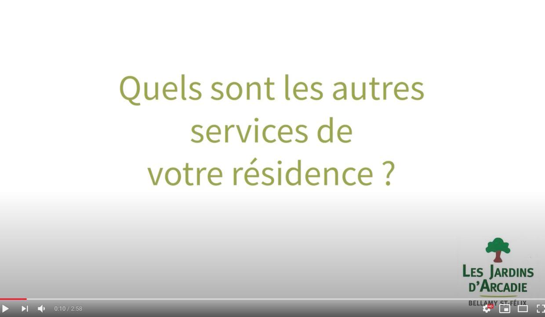 Services résidences seniors Jardins arcadie Bellamy Nantes